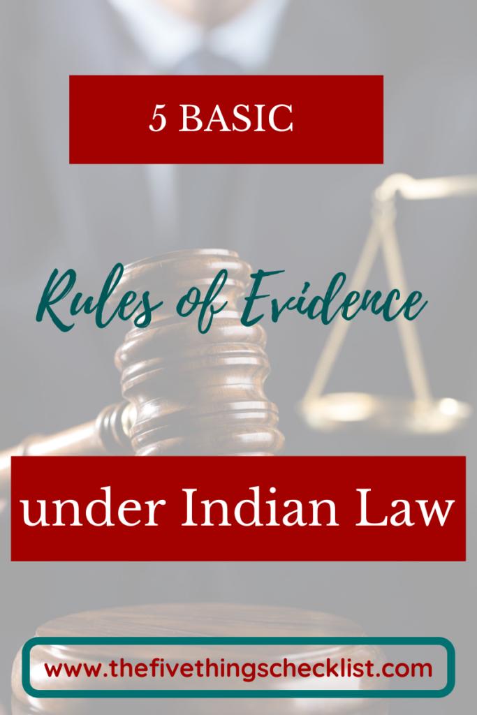 basic rules of evidence