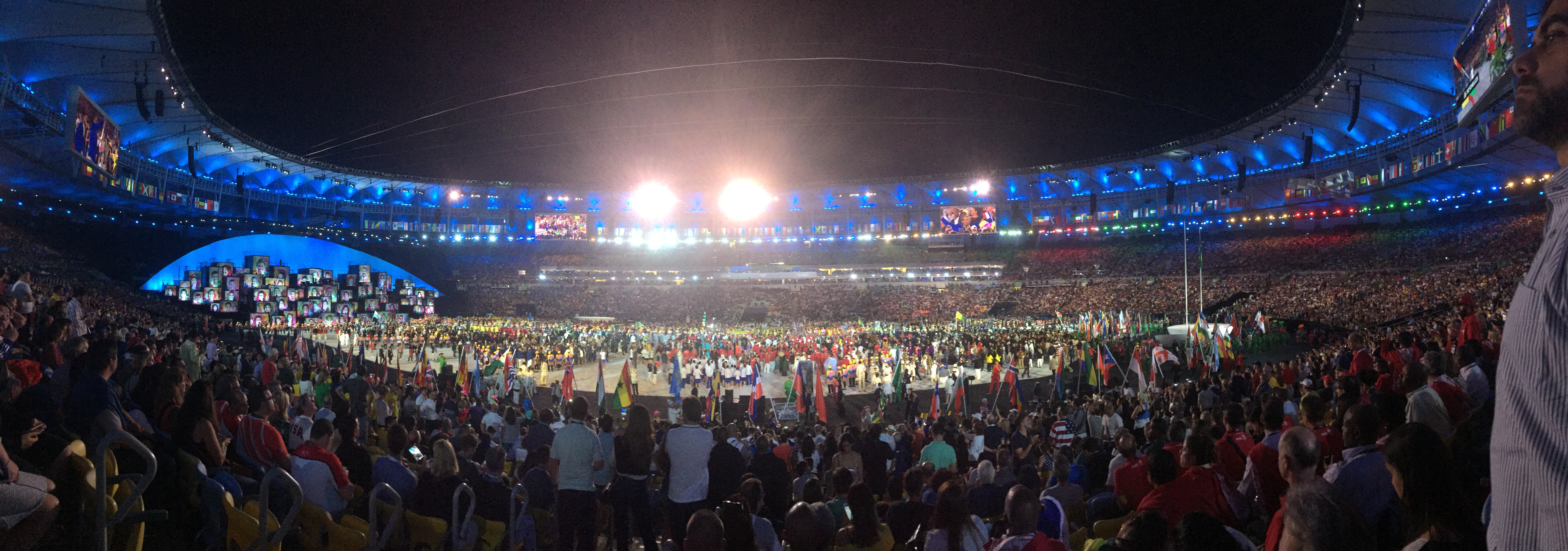 The Opening Ceremony at the 2016 Rio Olympics