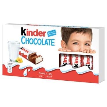 Kinder Chocolate Bar 100g 10/100g