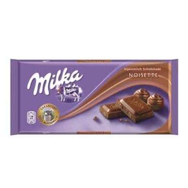 Milka Chocolate Hazelnut Noisette  3.5oz (100g) 22/100g