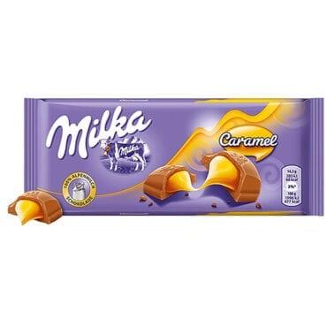 Milka Milk Chocolate Caramel 3.5oz (100g) 18/100g