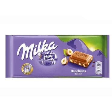 Milka Milk Chocolate with Hazelnuts 3.5oz (100g) 22/100g