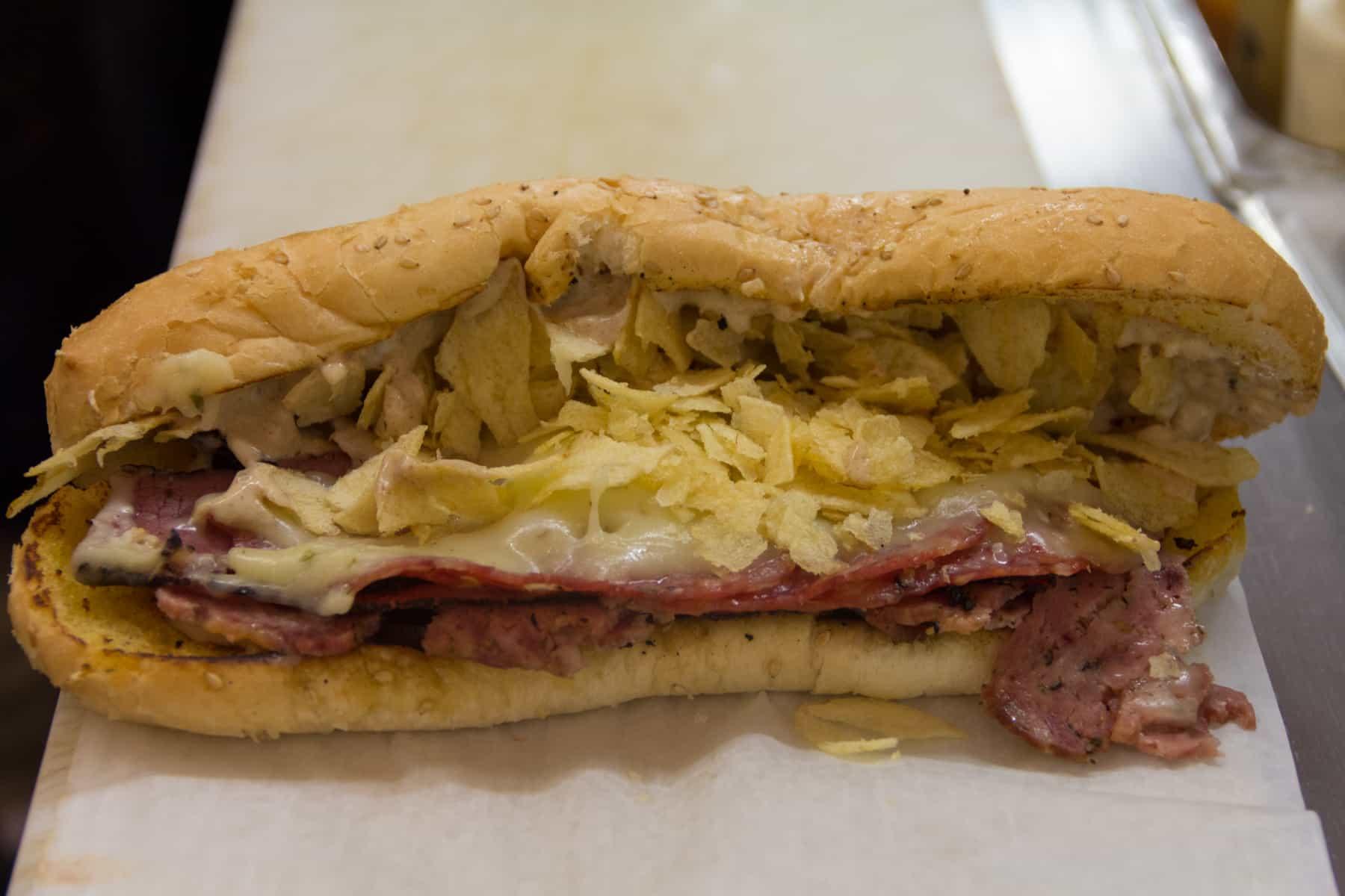 Jaworski Meats The Beast signature sandwich Chimaira