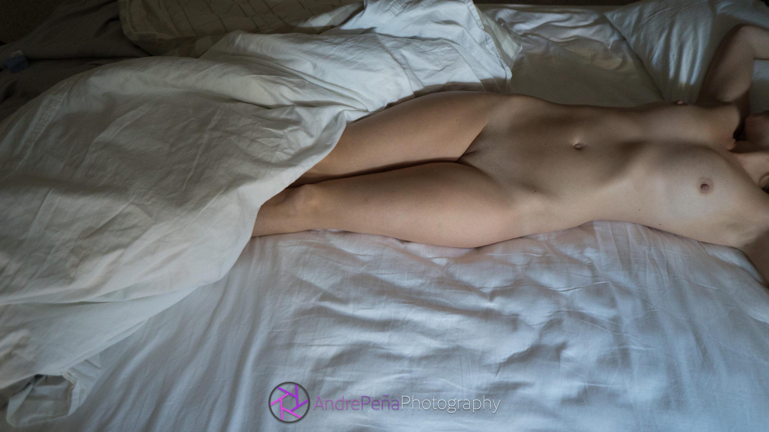 Lynn in bed.