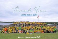 Kids with Cancer Soceity - Thank you - Camp Beat It 2017