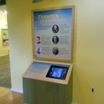 Pioneers interactive exhibit