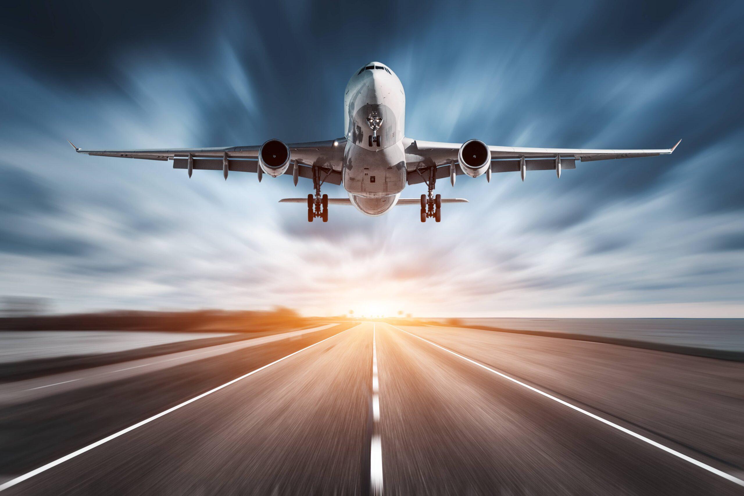 Airplane taking flight