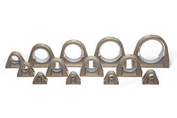 Fuel & hydraulic line clamp assemblies Polyetheretherketone