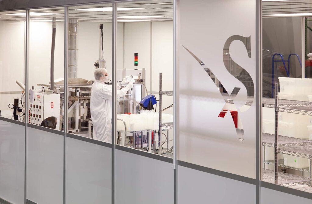 Savillex employee blow molding