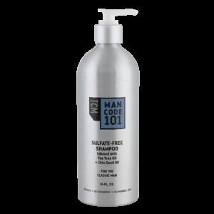 TCM Mancode Sulfate Free Shampoo 16oz Front