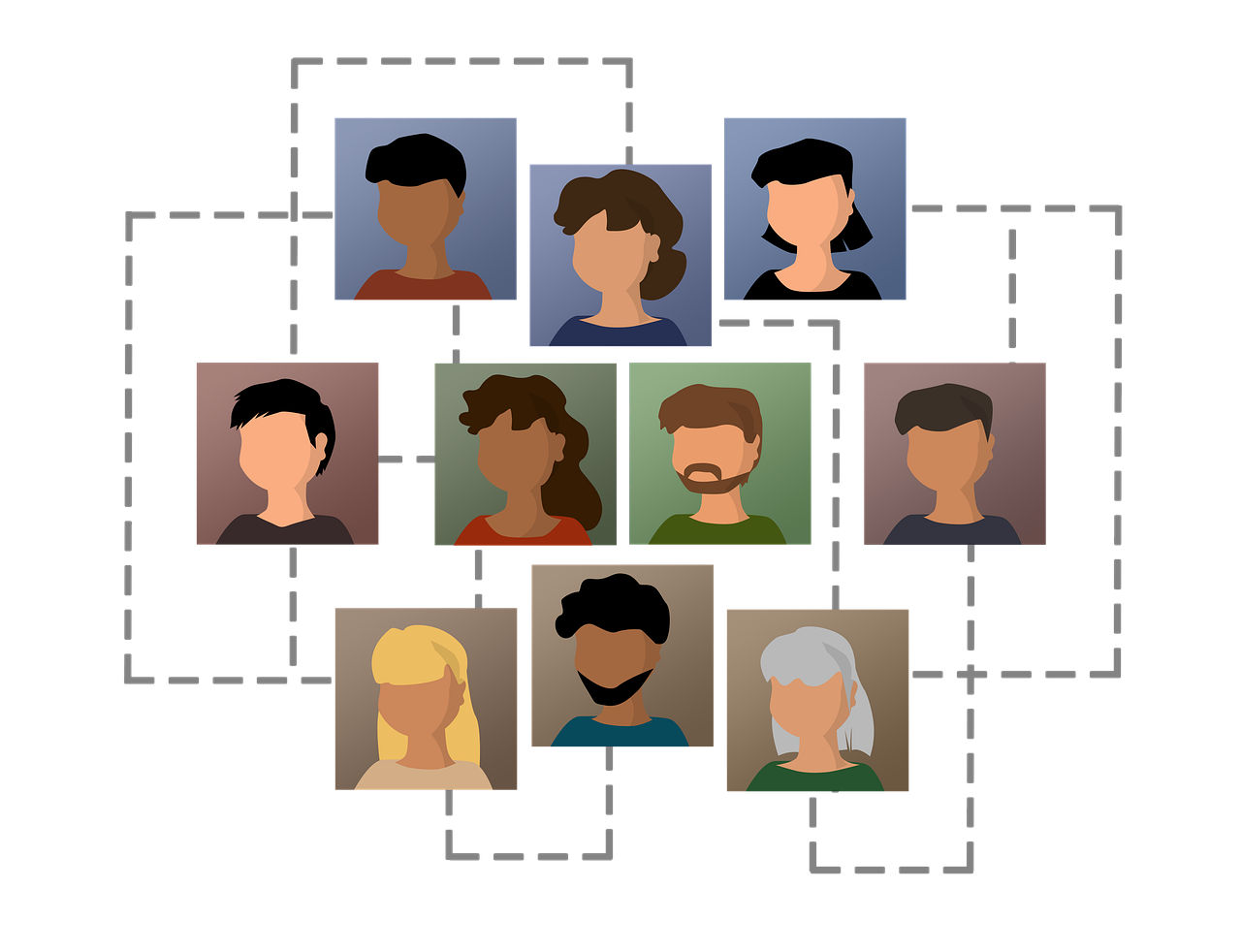 human resources, icons, network