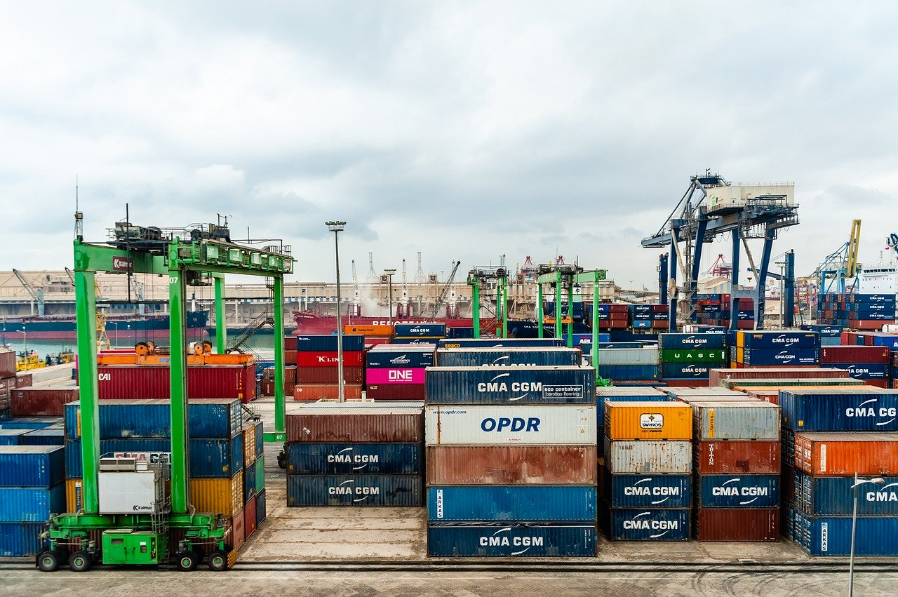 port, container, export