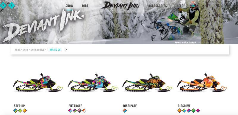 arctic cat snowmobile wraps