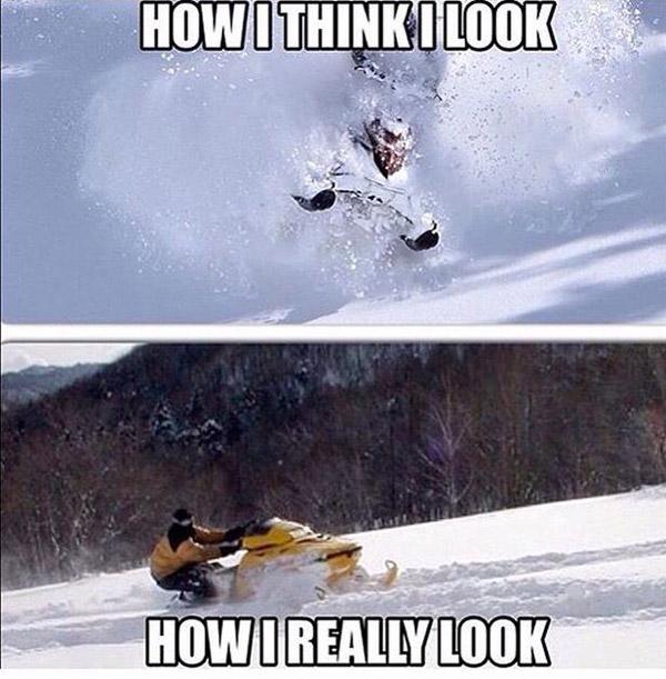 funny snowmobile meme