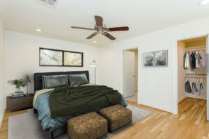 After - staged Primary bedroom