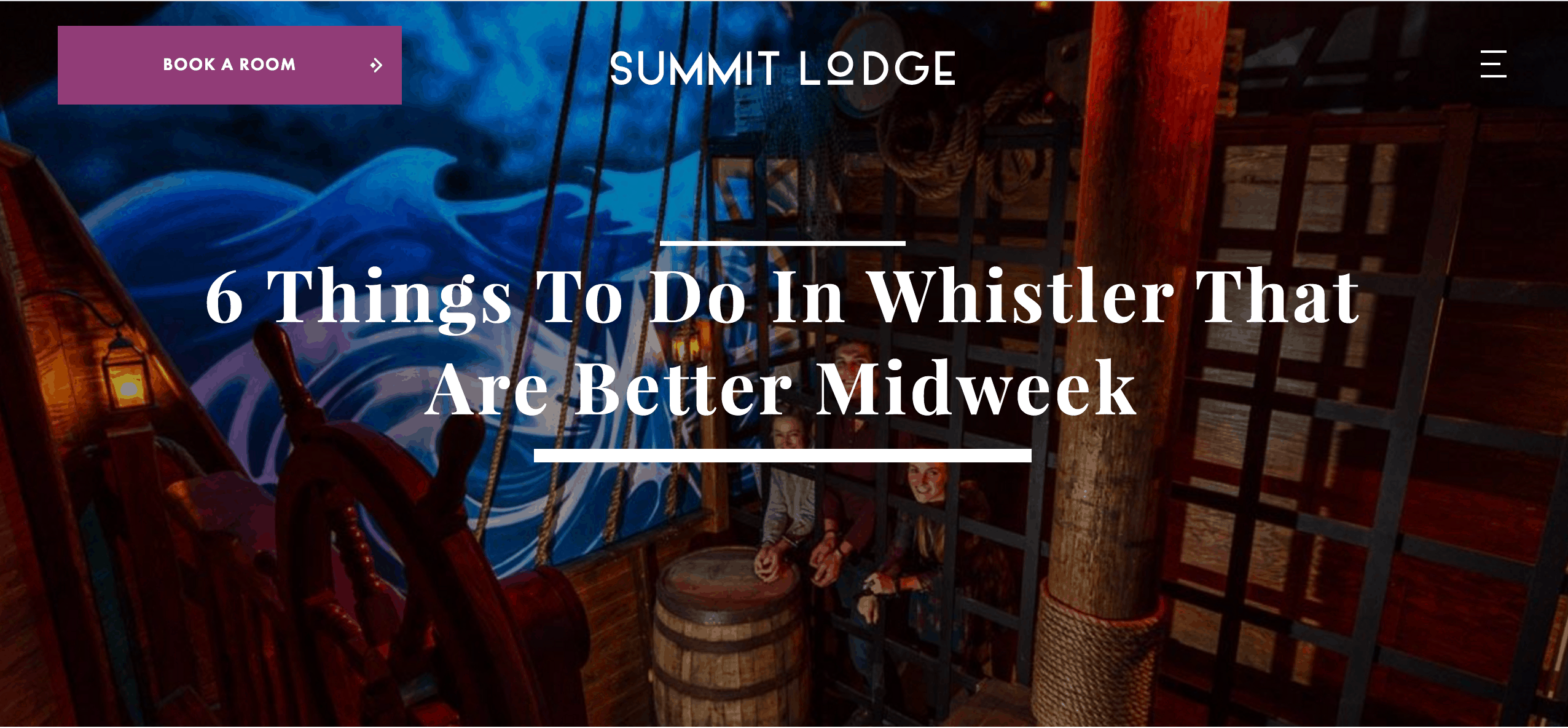 Summit Lodge - Things to do in Whistler Midweek Article