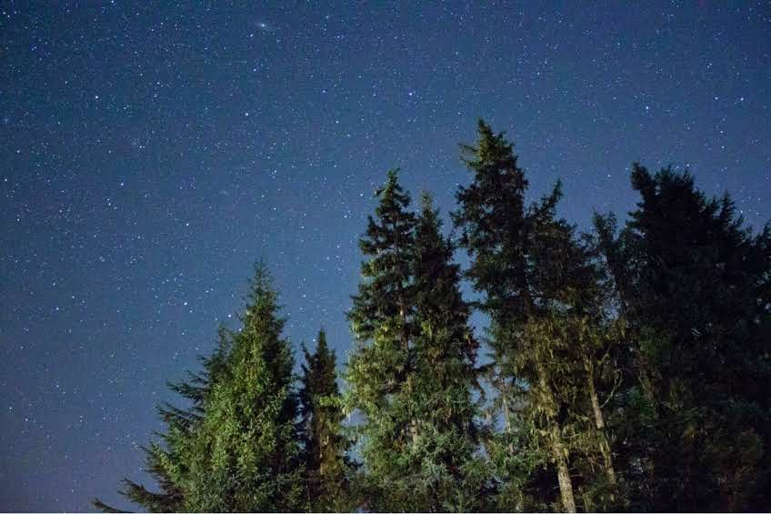 Photo of the night sky on a clear night in Juneau, Alaska.