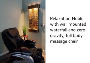 Full Body Massage Chair and Wall-mounted Waterfall