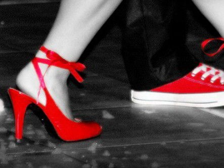 Mr. and Mrs. LaQuesta shoes photo