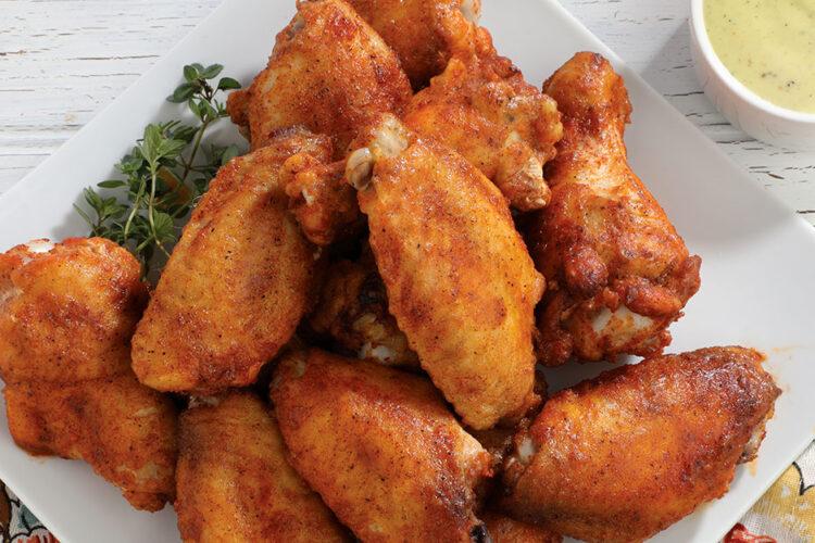 crispiest chicken wings
