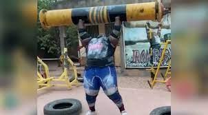 iron biby log press
