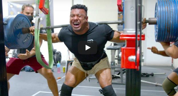 larry wheels quad injury squat