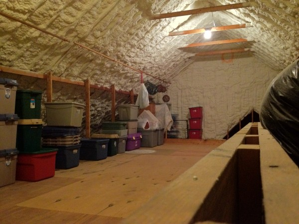 Sealed Attic with Open Cell Spray Foam