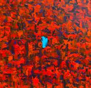 Blue Keyhole 40 x 40