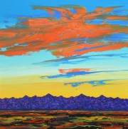 Desert Landscape 40 x 40