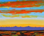 Desert Sunset 40 x 48