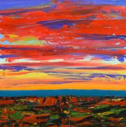 Red Landscape 36x36