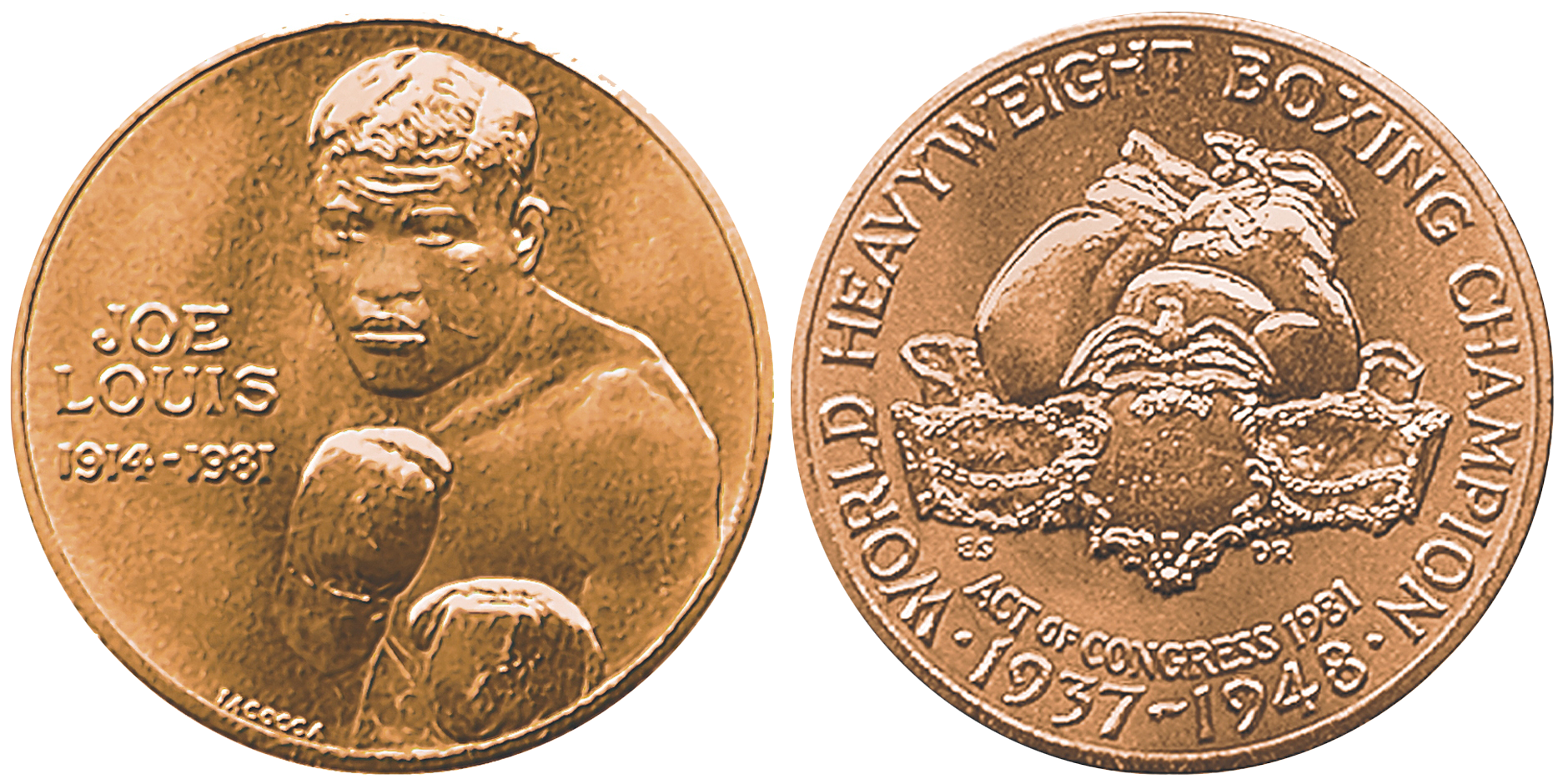 Joe Louis Bourbon - Joe Louis's Congressional Gold Medal, 1982