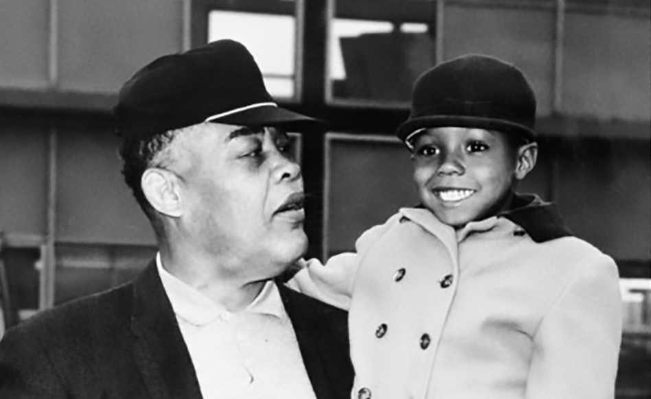 Joe Louis Bourbon - Joe Louis with Joe Louis Barrow Jr. II (Jo-Jo) Joe Louis's youngest son