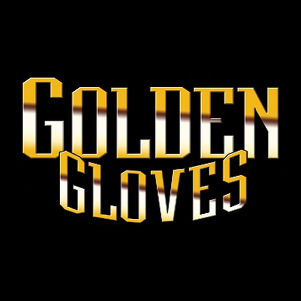 Joe Louis Bourbon - Golden Gloves logo