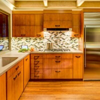 Eclectic Kitchen Wood