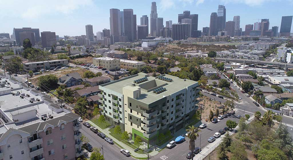 Aerial image of 1350 W. Court Street.