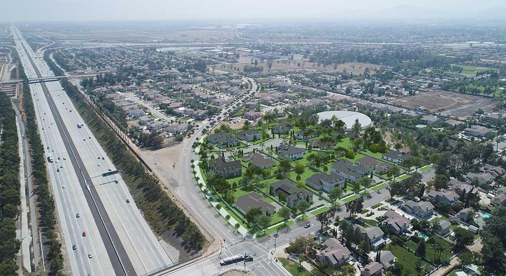 Aerial image of 6527 Etiwanda Avenue.