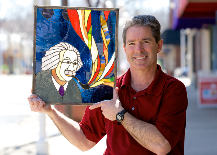 Artist uses stained glass as creative outlet