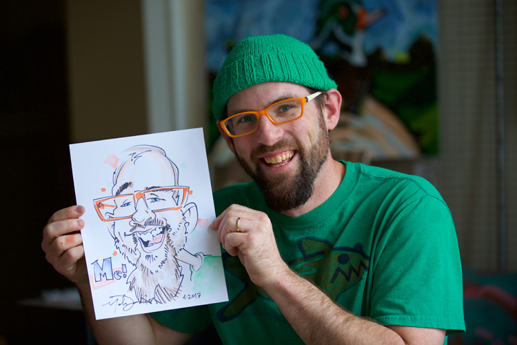 Michiana caricaturist catalogs memories, faces through his artwork
