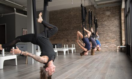 SLR Pilates offers aerial yoga