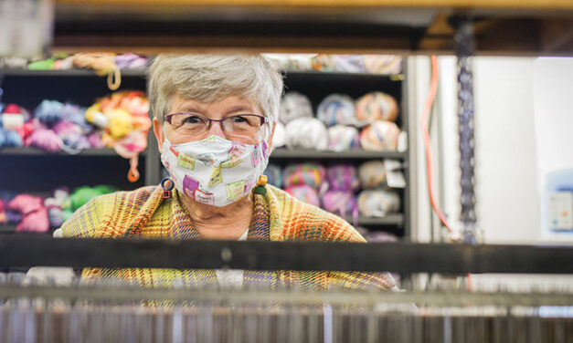 Nancy Brenner Sinotti weaves from the heart at the South Bend Farmer's Market