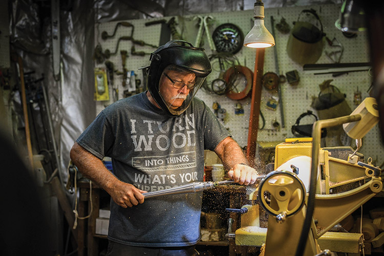 Woodworker creates live-edge bowls from local trees