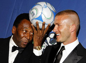 Pele & David Beckham