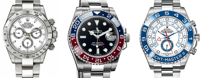 The Rolex Daytona, GMT-Master II and Yachtmaster II