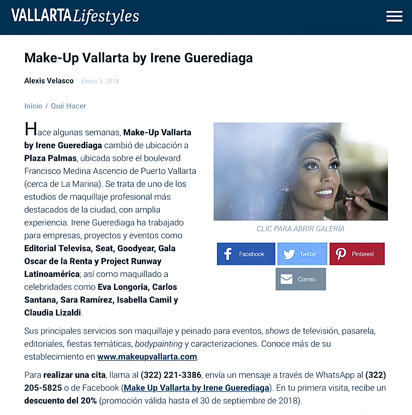 Press-Lifestyle Vallarta Magazine-Makeup Vallarta