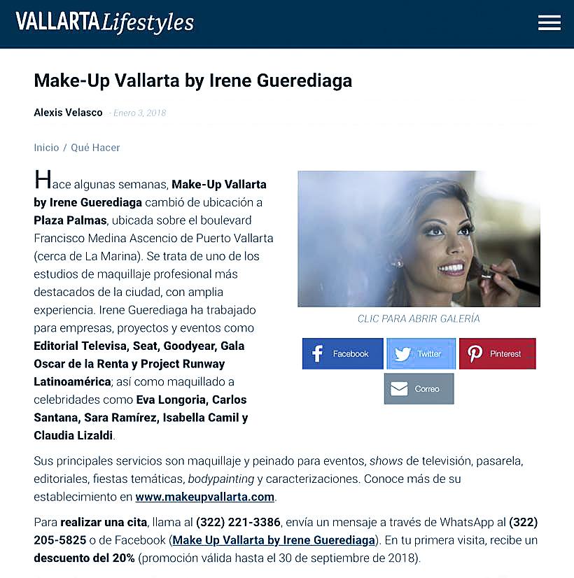 Press-Lifestyle Vallarta Magazine-Makeup Vallarta