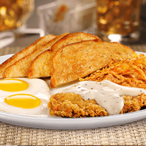 Denny's Guam Country Fried Steak and Eggs
