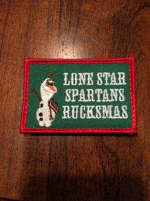 Lone Star Spartans Rucksmas Patch