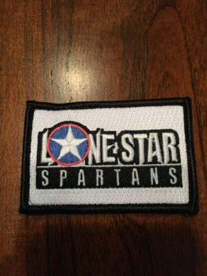 Lone Star Spartans Original White Team Patch - velcro