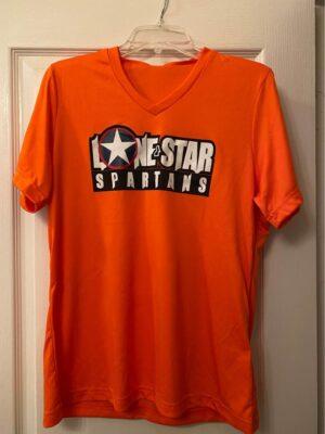 Orange vneck tee shirt